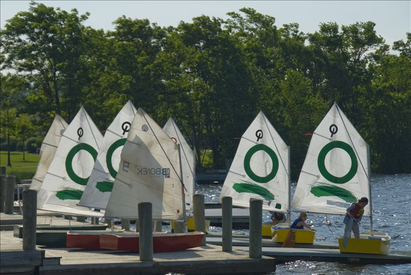 Boats on the Dock at the Cornwell Sailing Center